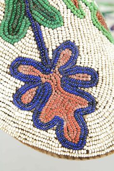 Blackfeet Floral Beaded Moccasins.. (detail)