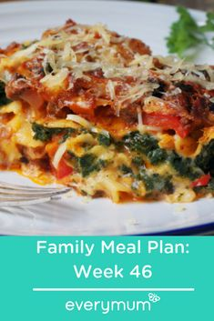Start the month off the right way with some fantastic family meal planning. Including this gorgeous vegetarian lasagne. Batch cooking and planning makes life so much easier, healthier and more budget friendly so start now! Family Meal Planning, Family Meals, Vegetarian Lasagne, Apple Chutney, Fiesta Chicken, Apple Pork Chops, Batch Cooking, Nutritious Meals, Food Inspiration