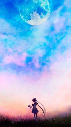 Sailor Moon - beautiful art pieces that would make great backgrounds/wallpapers - by Sugar Mints 🌙💗 Sailor Moon Crystal, Sailor Moon S, Sailor Neptune, Sailor Mars, Sailor Scouts, Twilight Moon, Fanart Manga, Sakura Card Captor, Princesa Serenity