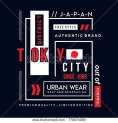 tokyo typography design tee, vector illustration concept slogan idea for graphic t shirt