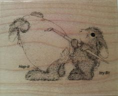 """NEW! HOUSE MOUSE by STAMPENDOUS """"Easter Bunny"""" Wood Mounted Rubber Stamp #Stampendous"""