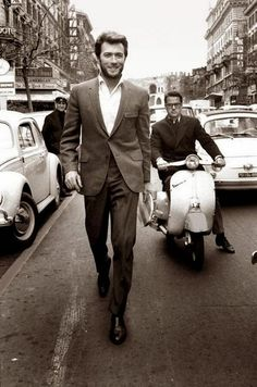 Clint Eastwood in the '60s. He's looking just as cool in his '80s.