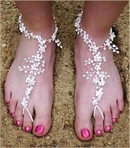 Beach wedding shoes,have you thought of this idea?