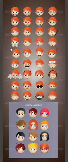 Emoticons Version 3  #GraphicRiver         Nice and High Detail vector.Easy customize. In this project, include AI and EPS files versions. You can open and edit with Adobe Illustrator and other vector supporting applications. I hope you like my design, thanks  	 visit my emoticons collections graphicriver /collections/2906118-emoticons     Created: 14May13 GraphicsFilesIncluded: VectorEPS #AIIllustrator Layered: No MinimumAdobeCSVersion: CS Tags: anime #avatar #boy #caricature #cartoon…