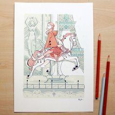 CARROUSEL A4 Print via Sibylline's Shop • Art