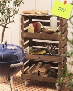 They used this as a BBQ Station, but this DIY rolling cart could be used for so many things, indoors and out!