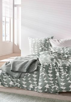 Perkal-Bettwäsche Follini aus reiner Bio-Baumwolle Comforters, Blanket, Bed, Home, Bedroom, Cotton, Creature Comforts, Quilts, Stream Bed