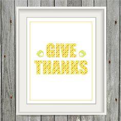 Thanksgiving  8x10 Art Print  INSTANT DOWNLOAD by greenoriginals
