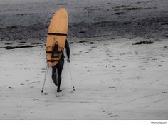 Despite his significant handicap, this surfer's hardcore dedication keeps him surfing.