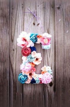 Flower Letters | 9 DIY Dorm Decorations Even Lazy Girls Can Make | http://www.hercampus.com/life/campus-life/9-diy-dorm-decorations-even-lazy-girls-can-make