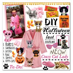 """""""Last Minute Halloween Costume * Crazy Cat Lady"""" by calamity-jane-always ❤ liked on Polyvore featuring Lancôme, Theory, Dearfoams, Cosabella, STELLA McCARTNEY, Halloween, fashionset and halloweencostume"""