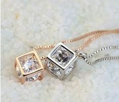 little cube necklace