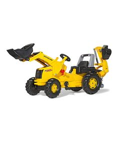 New Holland Backhoe Loader Ride-On by Kettler International #zulily #zulilyfinds  my little one would love this seeing that her daddy is a heavy equipment operator!