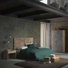 letto sacco con testiera in massello. #itesoricoloniali #letto #arredamenti #loft #industrial #design #reggioemilia #homestaging #legno #massello