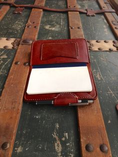Leather Notebook Cover Credit Card Business Card Pockets and Pen Slot, Leather Journal, Moleskine Notebook, Great Gift Idea