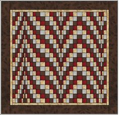 Bargello quilt * Double Chocolate * 3Sisters * Moda Fabrics