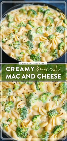 You are only 30 minutes away from this family dinner idea! Not only is this quick and easy meal the perfect comfort food, but it is also a great way to sneak in some greens. Save this creamy broccoli mac and cheese recipe! Whole30 Dinner Recipes, Vegetarian Recipes, Meatless Dinner Ideas, Weeknight Recipes, Meatless Monday, Damn Delicious Recipes, Best Comfort Food, Comfort Foods, Best Pasta Recipes