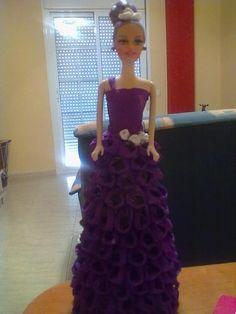 Como hacer vestido de muñecas con papel crepe - Imagui
