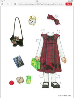 Mae paper doll clothes