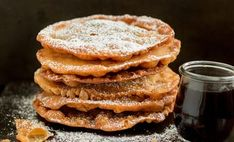 Mexican Buñuelos are a traditional holiday dish! They're sweet and crispy tortilla-like fritters drizzled with a spiced brown sugar syrup. Mexican Cooking, Mexican Food Recipes, Sweet Recipes, Dessert Recipes, Christmas Desserts, Christmas Baking, Christmas Goodies, Christmas Treats, Merry Christmas