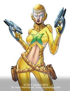 #spacegirl #TableTopRPG #SuperHero #Superhero2044 #ComicBooks #Gaming #Art #CollectibleCardGame #CheckerBPG