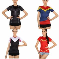 Women's superhero COMPRESSION T-SHIRT, to create popular, show chic pride of the spirit, Go check it and get surprised at G-LIKECLOTHES.COM!