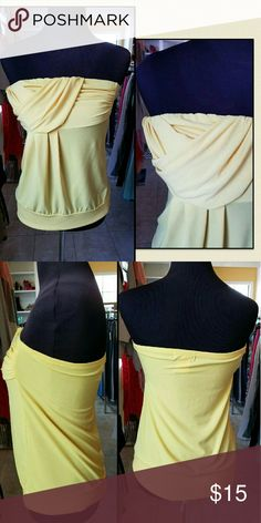 Yellow tube top Brand: Fleurish.  Size: Large.  Material: 92 polyester 8 spandex .  Tube top Bundle or make an offer Tops
