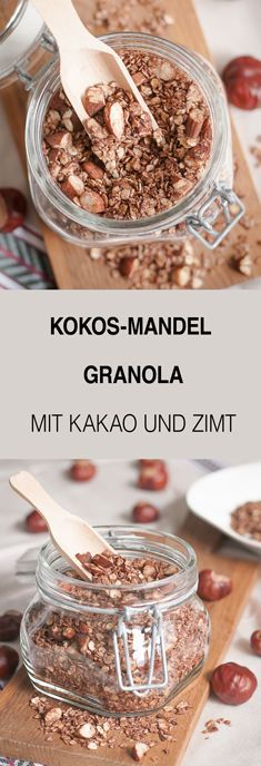 Ein Rezept für Kokos-Mandel Granola für Euch: Granola ist ein tolles Geschenk aus der Küche. Richtig lecker für ein gemütliches Frühstück oder zum Brunch.