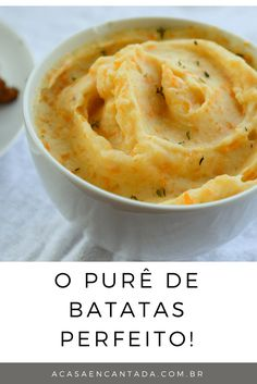 receita do melhor purê de batatas e dicas para deixar bem colorido!