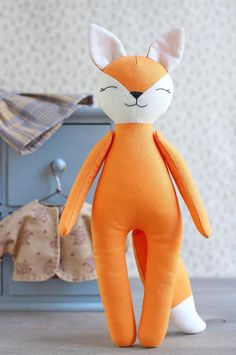 Fox Sewing Pattern & Sewing Tutorial Animal Doll Pattern Fox Doll Cloth Doll Stuffed Animal Plushie Soft Toy Fox with Clothes Sewing Patterns Free, Free Sewing, Doll Patterns, Pattern Sewing, Fabric Doll Pattern, Fox Pattern, Pattern Ideas, Sewing Stuffed Animals, Stuffed Toys Patterns