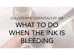 Today I show you what it looks like when ink is bleeding into the paper and what you can do to prevent it.