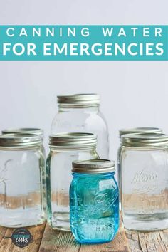 The simple task of Canning Water is great for emergency preparedness, power outages, or when you need access to sanitized water. Learning how to can water is a low-cost way to supplement your family's drinking water needs. Emergency Preparation, Emergency Food, In Case Of Emergency, Emergency Preparedness, Survival Prepping, Survival Gear, Canning Rack, Canning Tips, Canning Recipes
