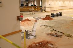 May 30th – The new wiring/conduit is in place and this area is now being prepped for new concrete.