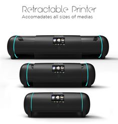 Retractable Printer adjusts its size to your needs