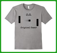 Mens OG Original Gamer Rocking The Sticks From The Beginning Large Slate - Gamer shirts (*Amazon Partner-Link)