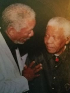 Morgan Freeman with beloved world leader Nelson Mandela. Handsome Bearded Men, Morgan Freeman, Nelson Mandela, World Leaders, Actresses, Artists, Actors, Style, Female Actresses