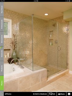 Larger shower space