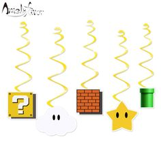 Square Game Ceiling Hanging Swirl Decorations Cutout Festive Party Supplies Party DIY Decorations Event Party Baby Shower-in Banners, Streamers & Confetti from Home & Garden on Aliexpress.com | Alibaba Group