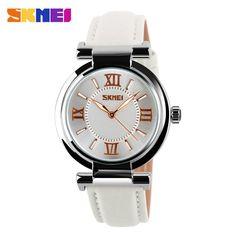 $9.08 (Buy here: https://alitems.com/g/1e8d114494ebda23ff8b16525dc3e8/?i=5&ulp=https%3A%2F%2Fwww.aliexpress.com%2Fitem%2FNewest-Arrival-SKMEI-Brand-Dress-Watch-for-Women-Leather-Strap-Gold-women-dress-watches-Quartz-Fashion%2F1916891107.html ) 2016 Arrival quartz watch SKMEI watches women luxury brand fashion women wristwatch dive 30m leather strap relogio feminino for just $9.08