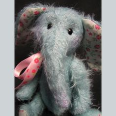 A Gallery of Fine Artist Bears and Soft Sculpture Soft Sculpture, Hydrangea, Dinosaur Stuffed Animal, Elephant, Sewing, Trending Outfits, Unique Jewelry, Handmade Gifts, Pretty