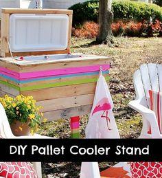 DIY Pallet Cooler Stand - DIY Gift World