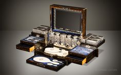 Daniel Lucian | Antique Dressing Case in Coromandel with Betjemann Patent Mechanism, by Jenner & Knewstub