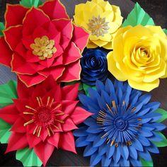 Mi tricolor favorito Giant Flowers, Paper Flowers, Colors