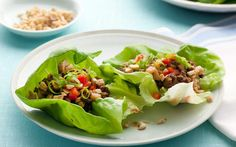 Lettuce Cups with Tofu and Beef Recipe by Ellie Krieger