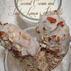 Coconut Cream and Tart Lemon Biscotti