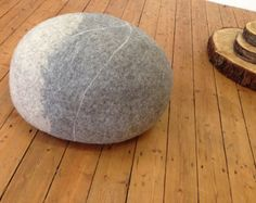samesch felted pebble Meditation 60x23cm handmade by samesch