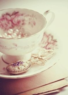 Pearls and a beautiful tea cup!