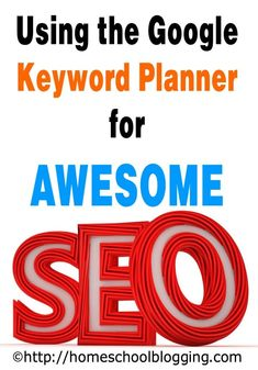 Very detailed instructions for how to use the FREE Google keyword planner to develop awesome SEO in your post. #SEOPlanner