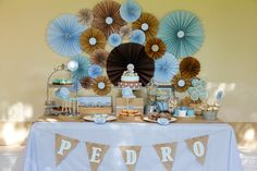 Cakes and Co. Baby Shower Parties, Baby Shower Themes, Baby Boy Shower, Sunshine Birthday Parties, Baby Birthday, Boy Baptism, Christening, Ideas Bautizo, Teddy Bear Party