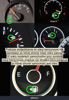 Po której stronie znajduje się wlew paliwa w samochodzie? - Podczas podjeżdzania do stacji benzynowej nie  pamiętasz po której stronie masz wlew paliwa? W wielu modelach samochodów przy symbolu stacji benzynowej znajduje się strzałka która pokazuje po której stronie samochodu jest wlew.